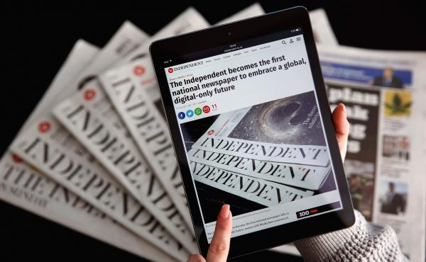 British newspaper the Independent announced it will move to a digital-only format later this month.