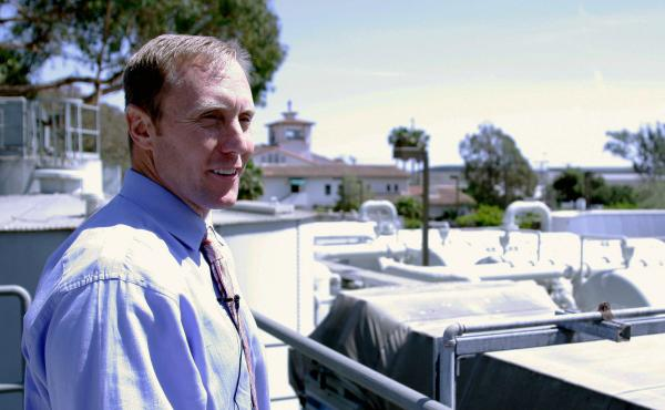 Joshua Haggmark, Santa Barbara's water resources manager, is in charge of getting the city's desalination plant back online.