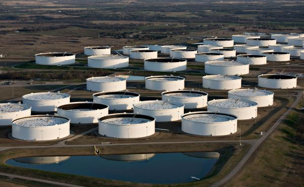 Cushing, Okla., is a major oil storage site. Amid record oil production, some analysts worry the U.S. will run out of places to put it all.