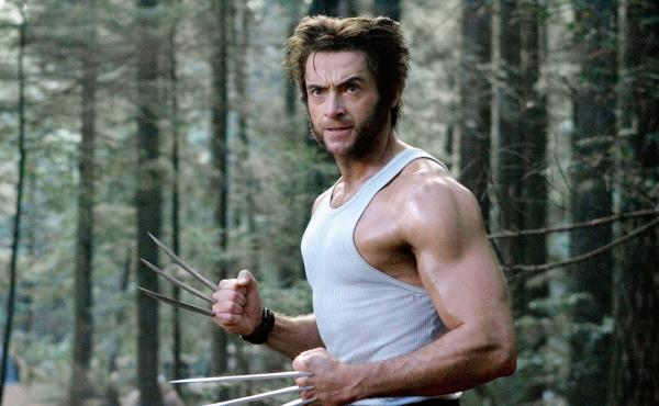 Hugh Jackman and mutton chops in X-Men: The Last Stand