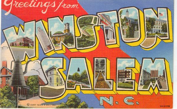 Winston-Salem vintage postcard