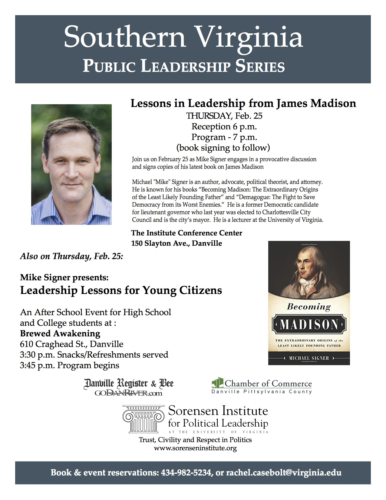 Southern Virginia Public Leadership Series: Lessons in Leadership