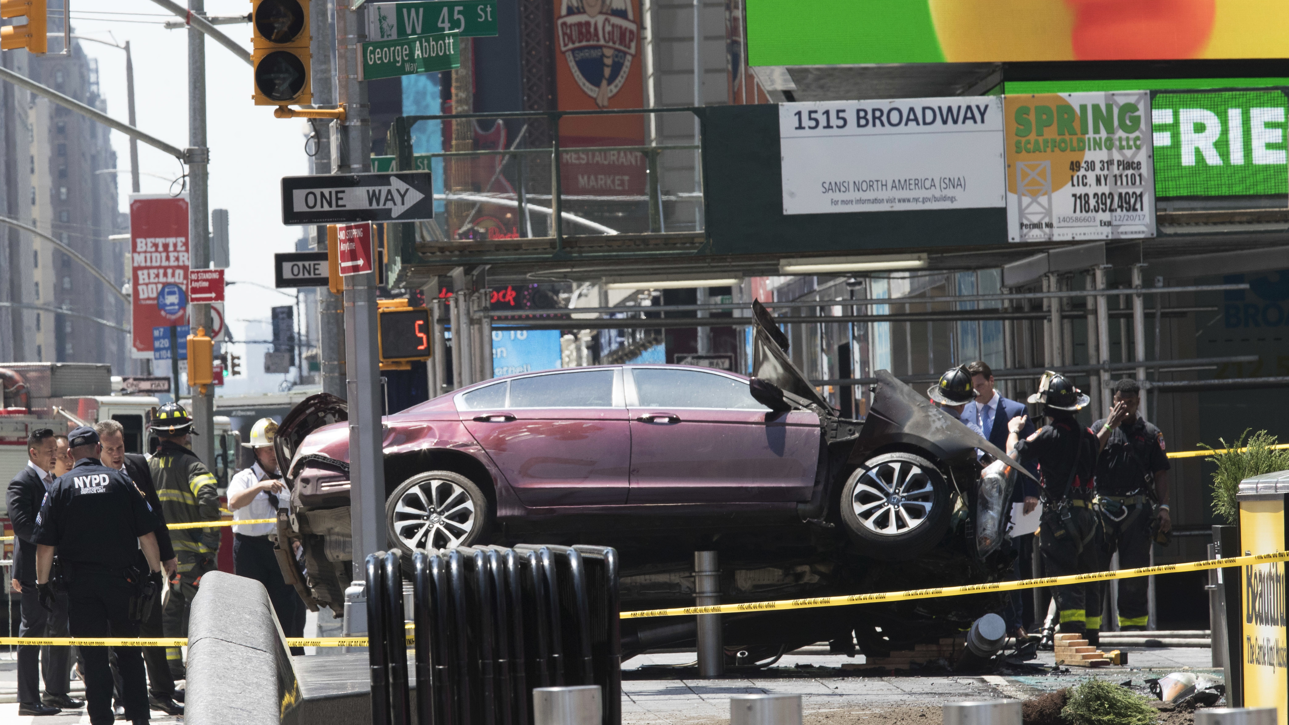 Car Plows Crowd New York
