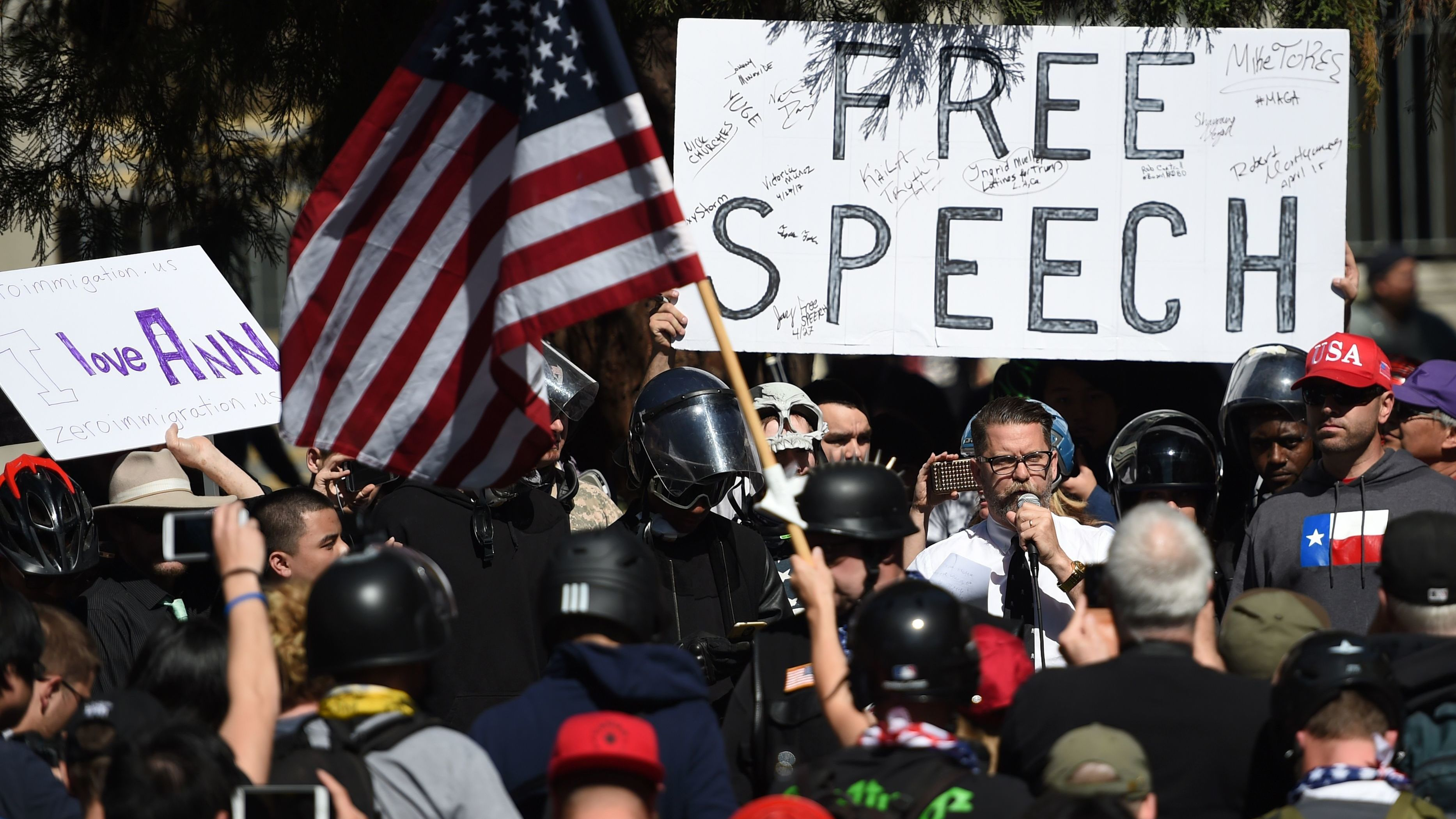 free speech on campus Free expression is not faring well on american college campuses these days in  some places, the problem is students taking grave offense at.