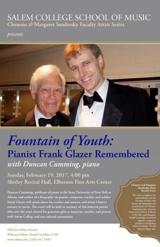 Fountain Of Youth: Pianist Frank Glazer Remembered | 88.5 WFDD