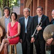 British Invasion Band Martha Bassett, Matt Kendrick, Federico Pivetta, Ken Wilmot, John Wilson