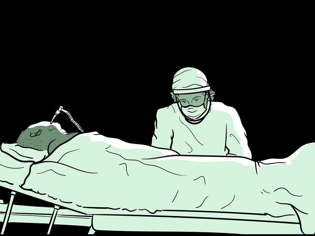 Dr. Daniel Colon Hidalgo is a physician in the intensive care unit of a Chicago Hospital, where many of the COVID-19 patients he's tending are unconscious and terribly Ill from the minute he meets them.