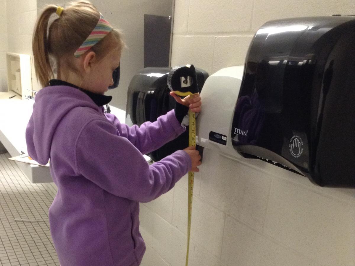 Nora Keegan takes measurements in 2016.