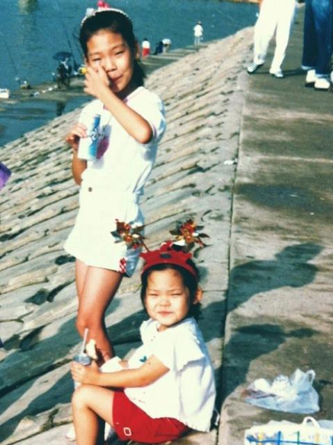 A childhood photo of sisters Euni (right) and Hanna Cho, taken in the southern port city of Busan, South Korea. Their mother Younghwa Chun was born in North Korean and evacuated on a U.S. ship to Busan during the Korean War.