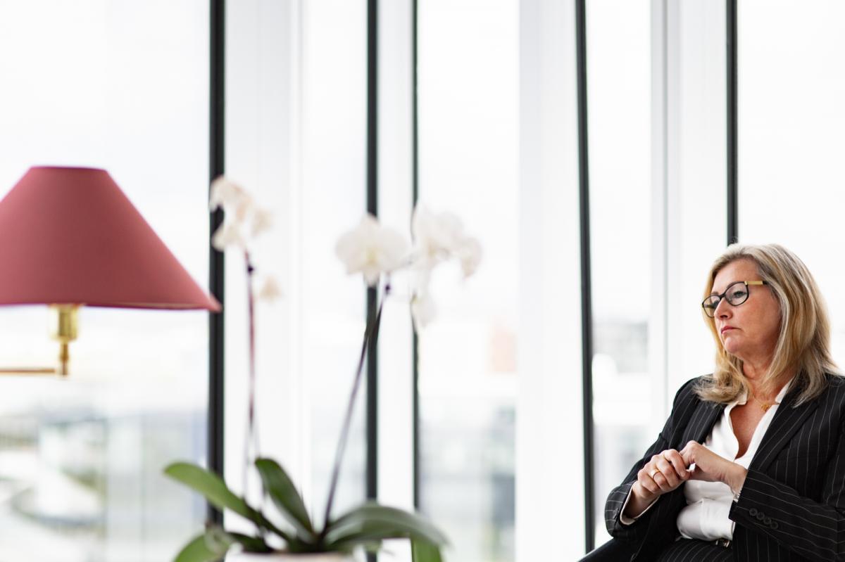 Dr. Alma D. Möller, Iceland's director of health, in her office in Reykjavík.