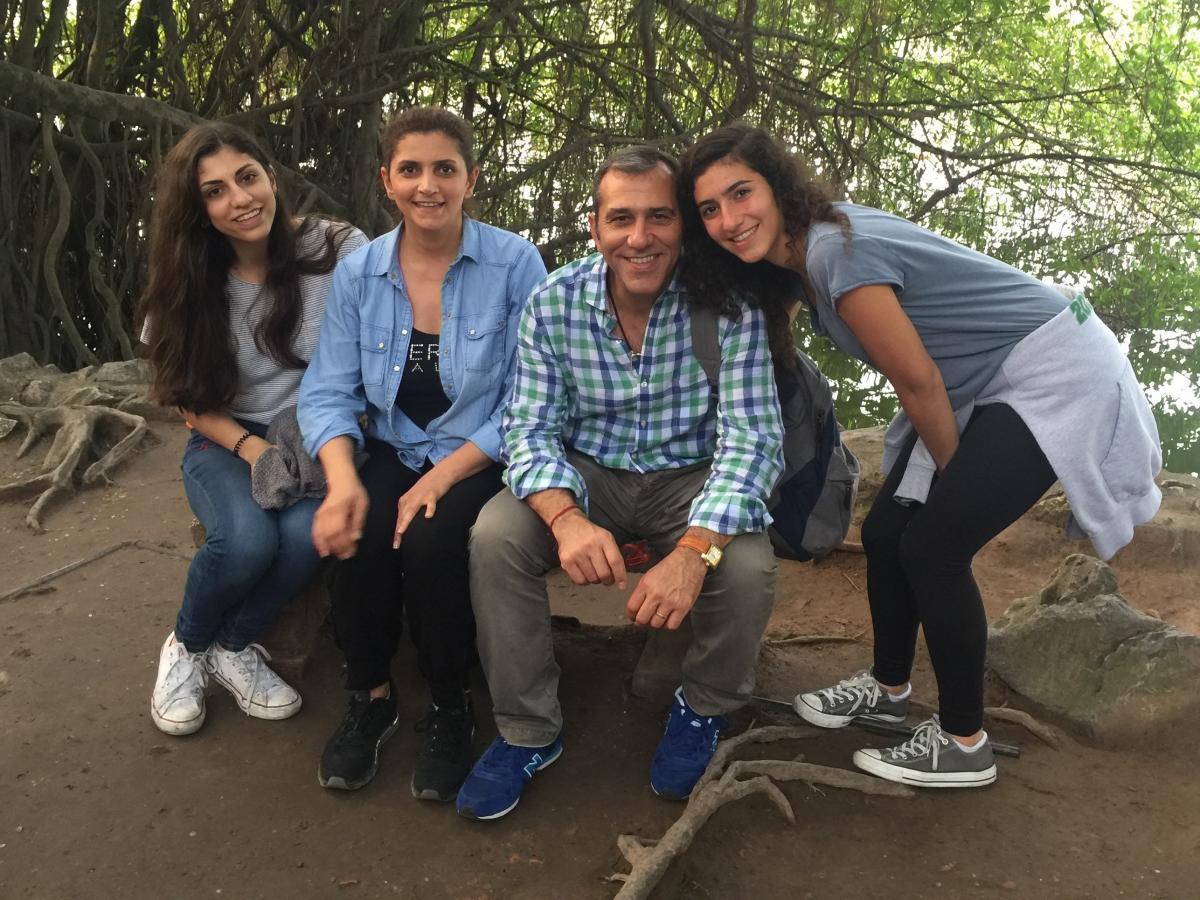The Shargi family in 2015.
