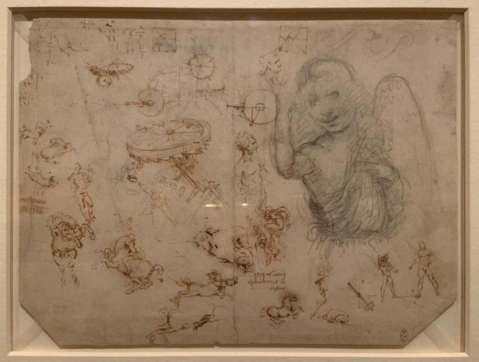 """Viewing Leonardo da Vinci's sketches, """"You can really get into his brain and try to see how he thought,"""" says biographer Serge Bramly."""