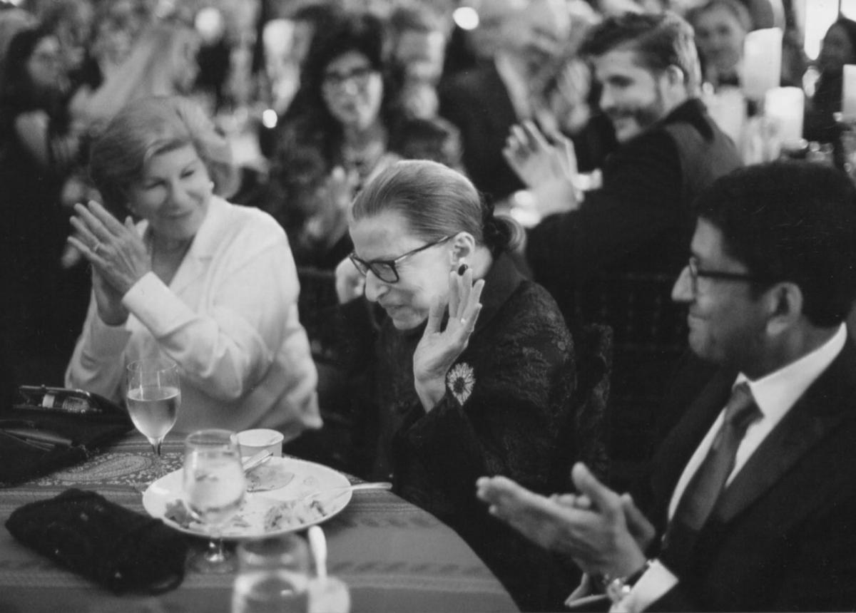 Nina Totenberg, left, with the late Supreme Court Justice Ruth Bader Ginsburg.