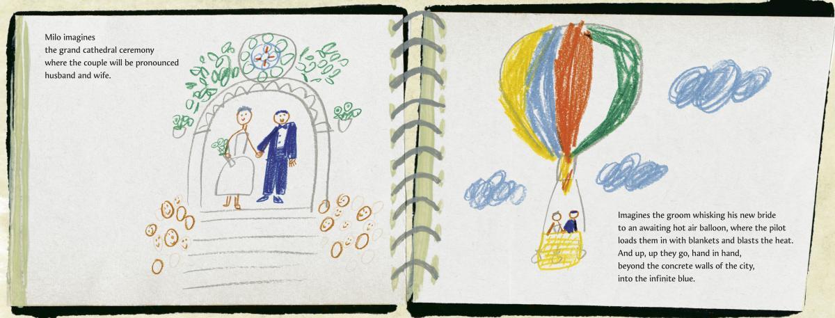 Milo Imagines the World, written by Matt de la Peña and illustrated by Christian Robinson
