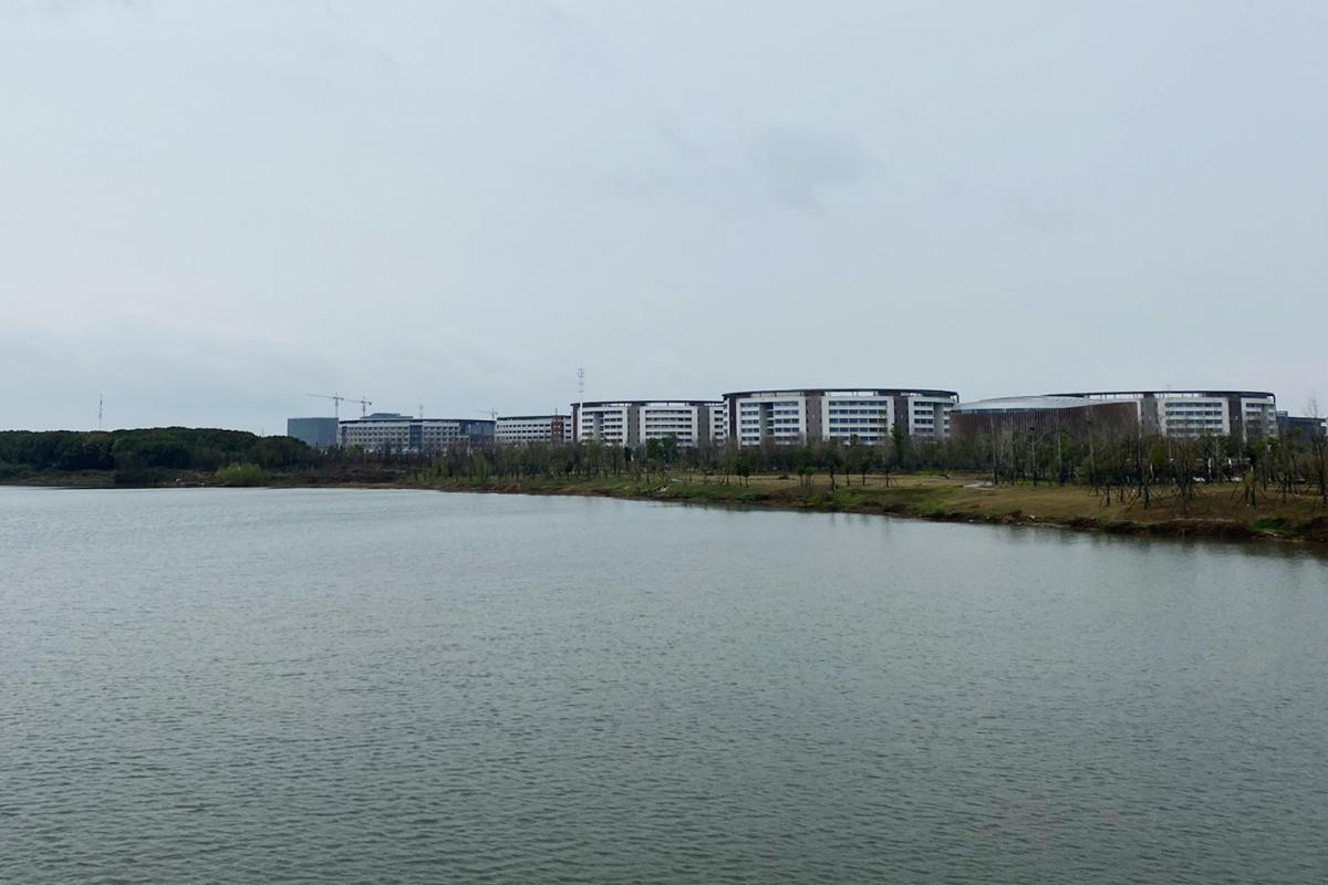 The Wuhan Cybersecurity Talent and Innovation Base, an industrial park that is to provide office and residential space for technology companies. Hongxin built its factory next door.