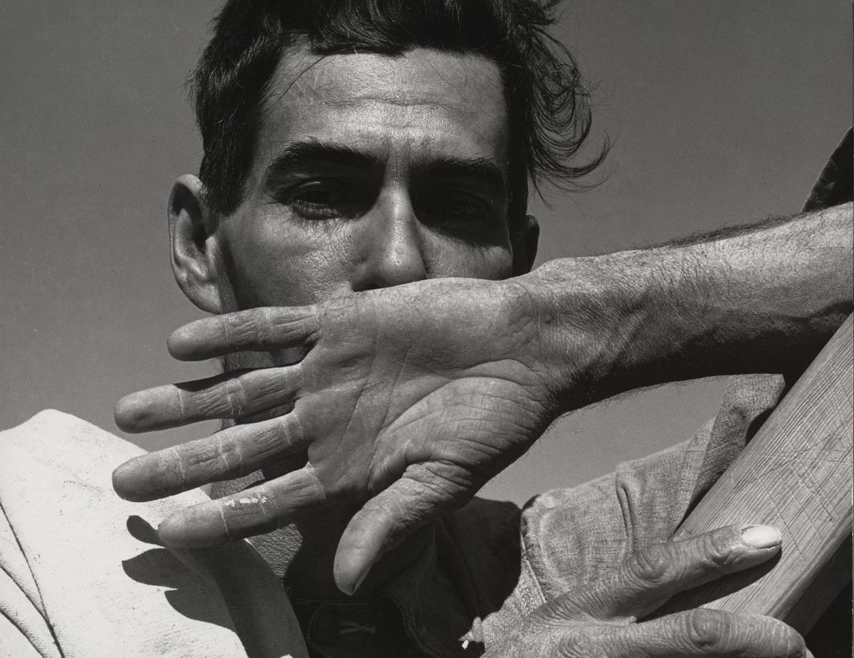 Dorothea Lange, Migratory Cotton Picker, Eloy, Arizona (1940). During many of Lange's portraits she would talk for a while with her subjects, recording their speech patterns and getting to know their perspectives on life.