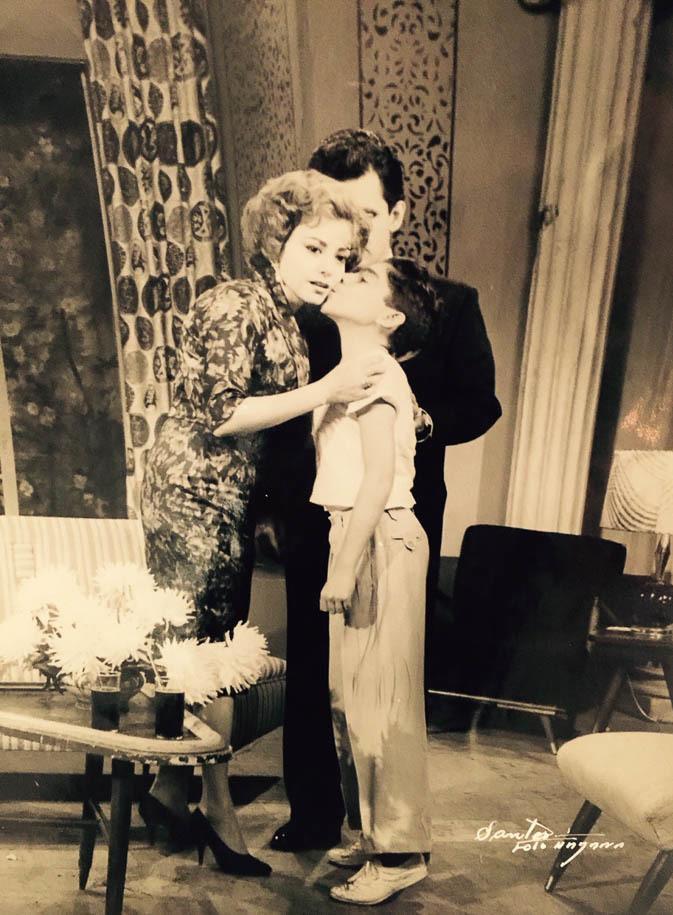 Mario García as a child actor on the set of the Cuban telenovela Esta Es Tu Vida.