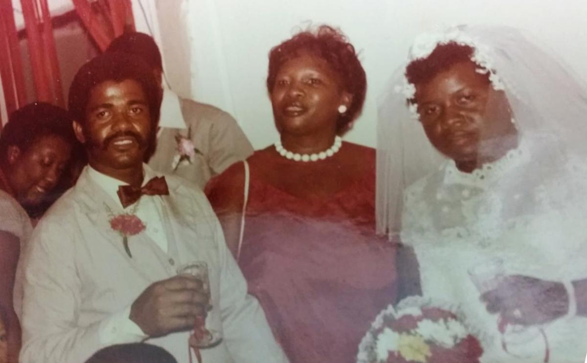 Roy Leonard Brackin, father of NPR editor Maquita Peters, and his wife, Rosie, are seen on their wedding day in Port-of-Spain, Trinidad and Tobago, circa 1981.
