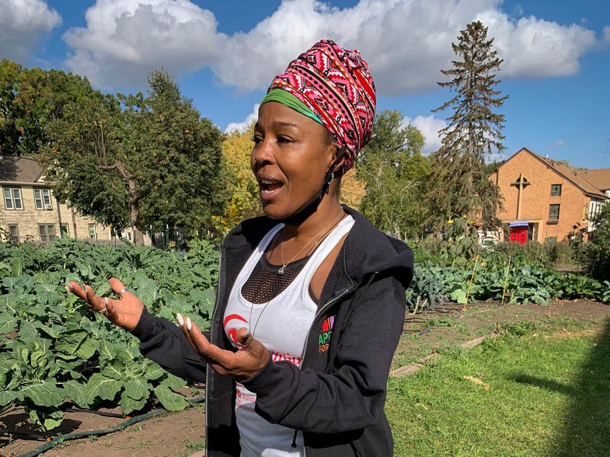 """Haley co-founded Appetite for Change as a way to improve access to healthy food and better the health of residents in her community. """"I feel like the garden is truly a healing space,"""" says Haley."""