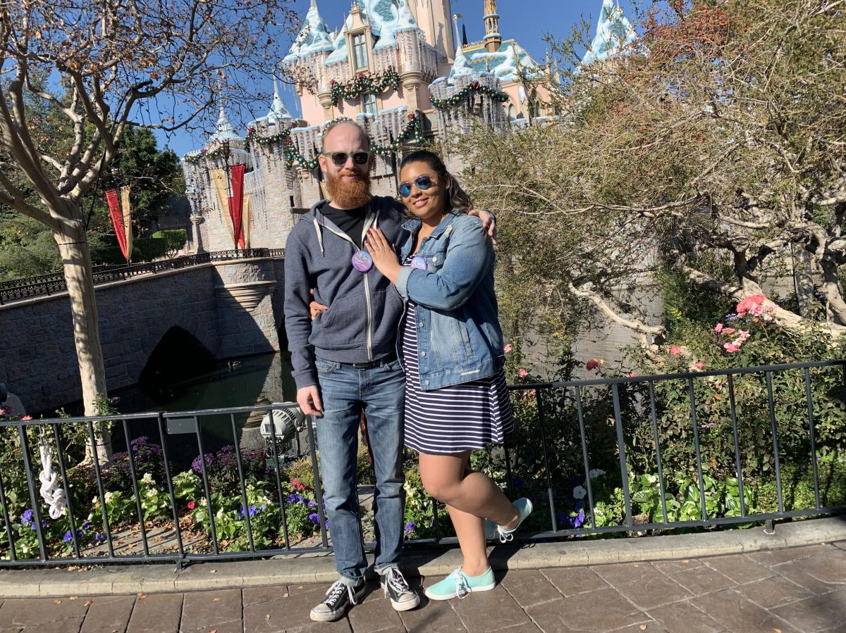 The couple visited Disneyland in December 2018 to celebrate their engagement.
