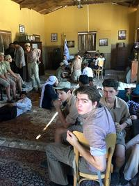 Extras wait for shooting to begin in the Egyptian soap opera, The Jewish Quarter. The TV program features a Muslim-Jewish romance and is being widely watched during Ramadan.