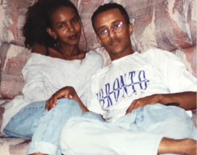 Salh and her husband Selehdin in Canada, 1995.