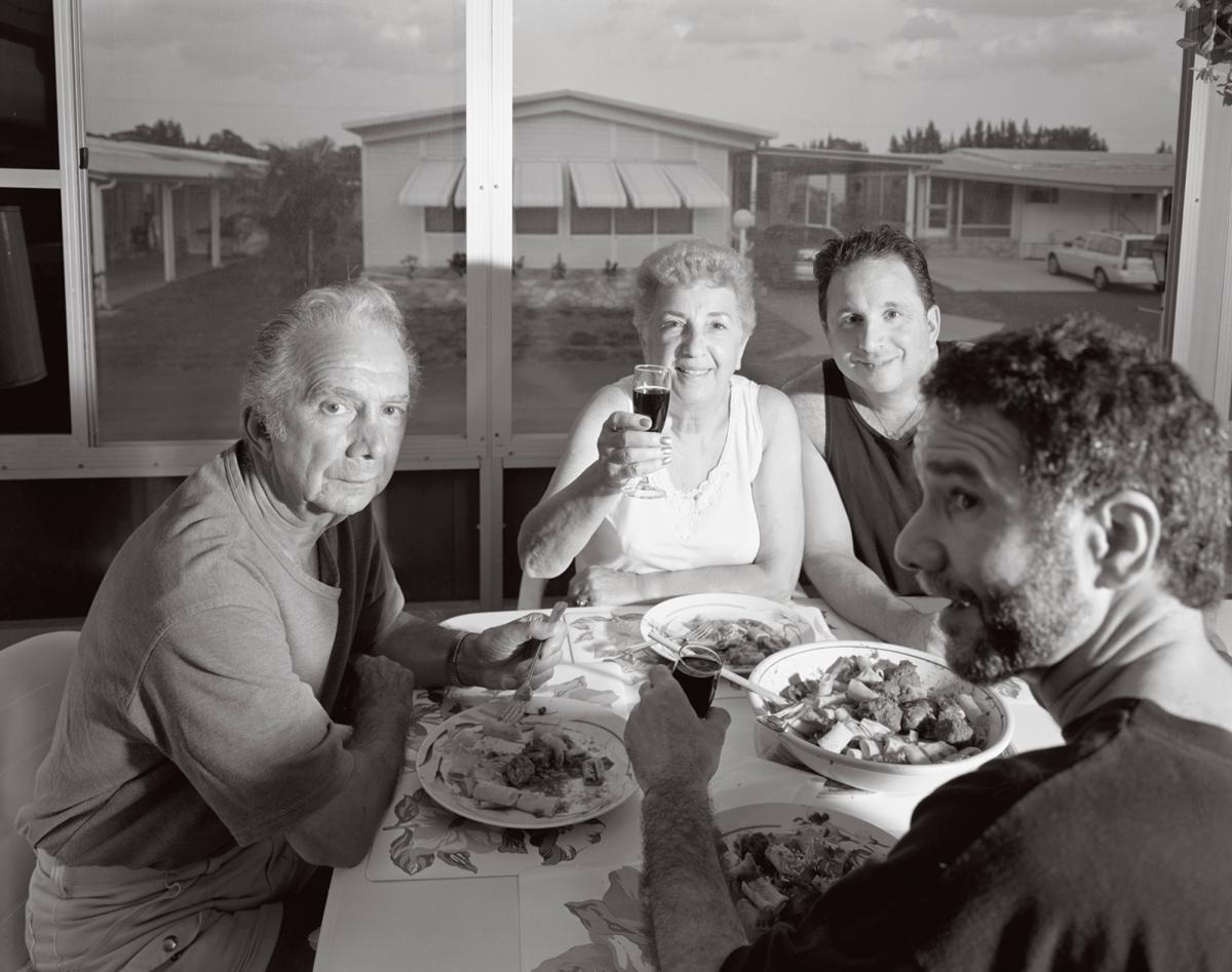 (Left to right) Gene, Rose, son Chris, and Stephen (lower right) in Boynton Beach, Fla., April 16, 2001.
