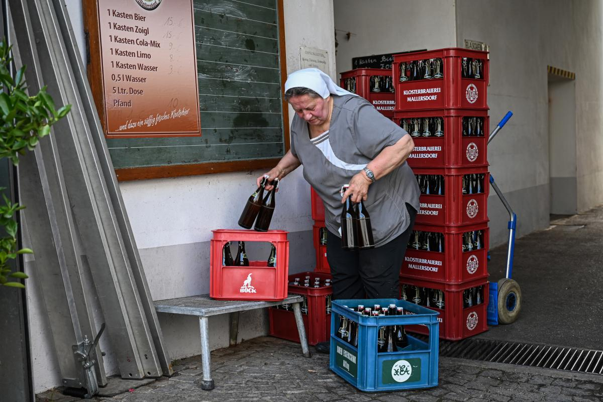 Sister Doris Engelhard, a 72-year-old Franciscan nun and master brewer at the Mallersdorf Abbey brewery in northeastern Bavaria.
