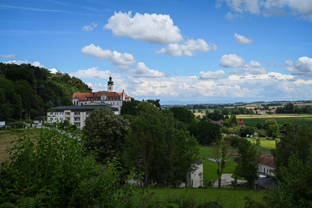 A view from the cloister of Mallersdorf to the Laber-Valley.