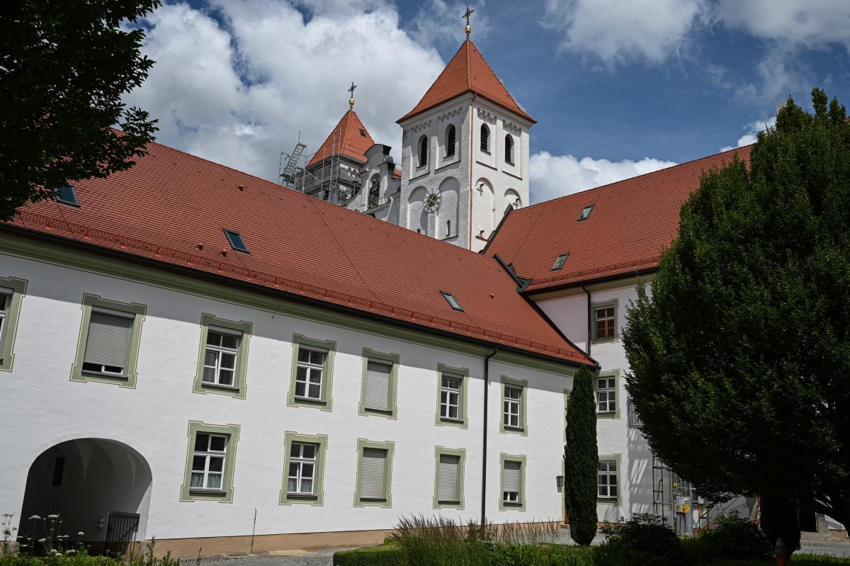 Part of the Franciscan cloister of Mallersdorf in the Laber-Valley in Bavaria.