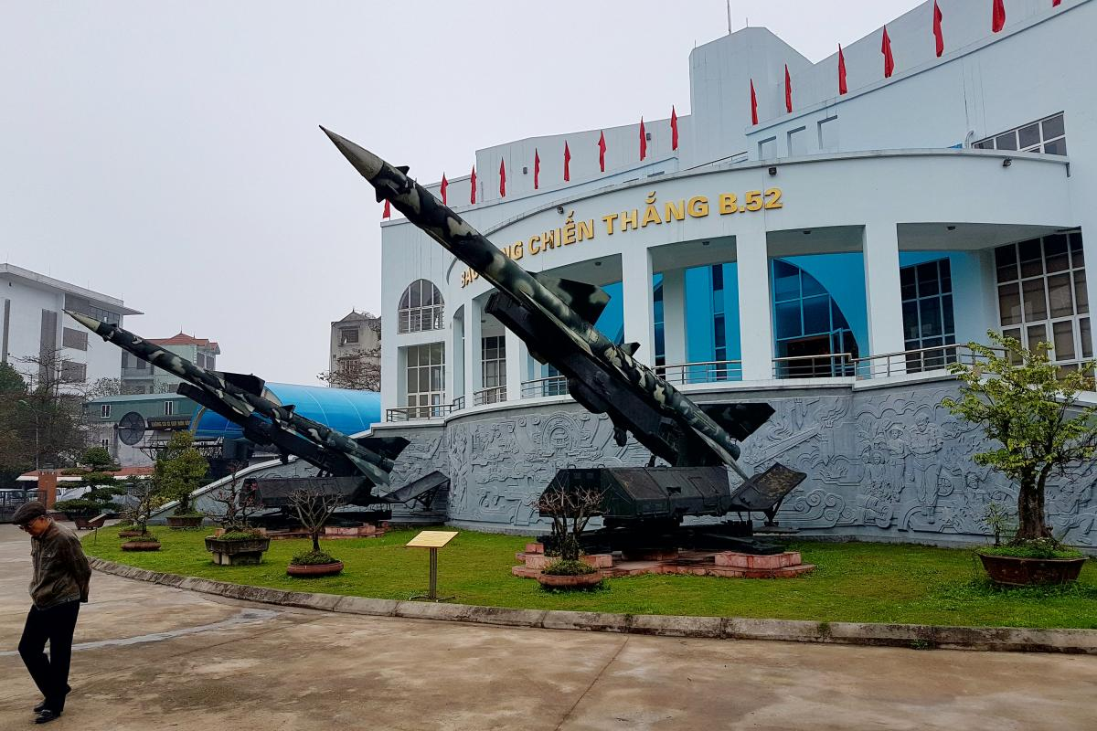 The B-52 Victory Museum in Hanoi, Vietnam, where remnants of downed U.S. bombers litter the courtyard and where other war memorabilia can be found inside. Once popular, the museum now draws fewer and fewer visitors as memories of the war fade.