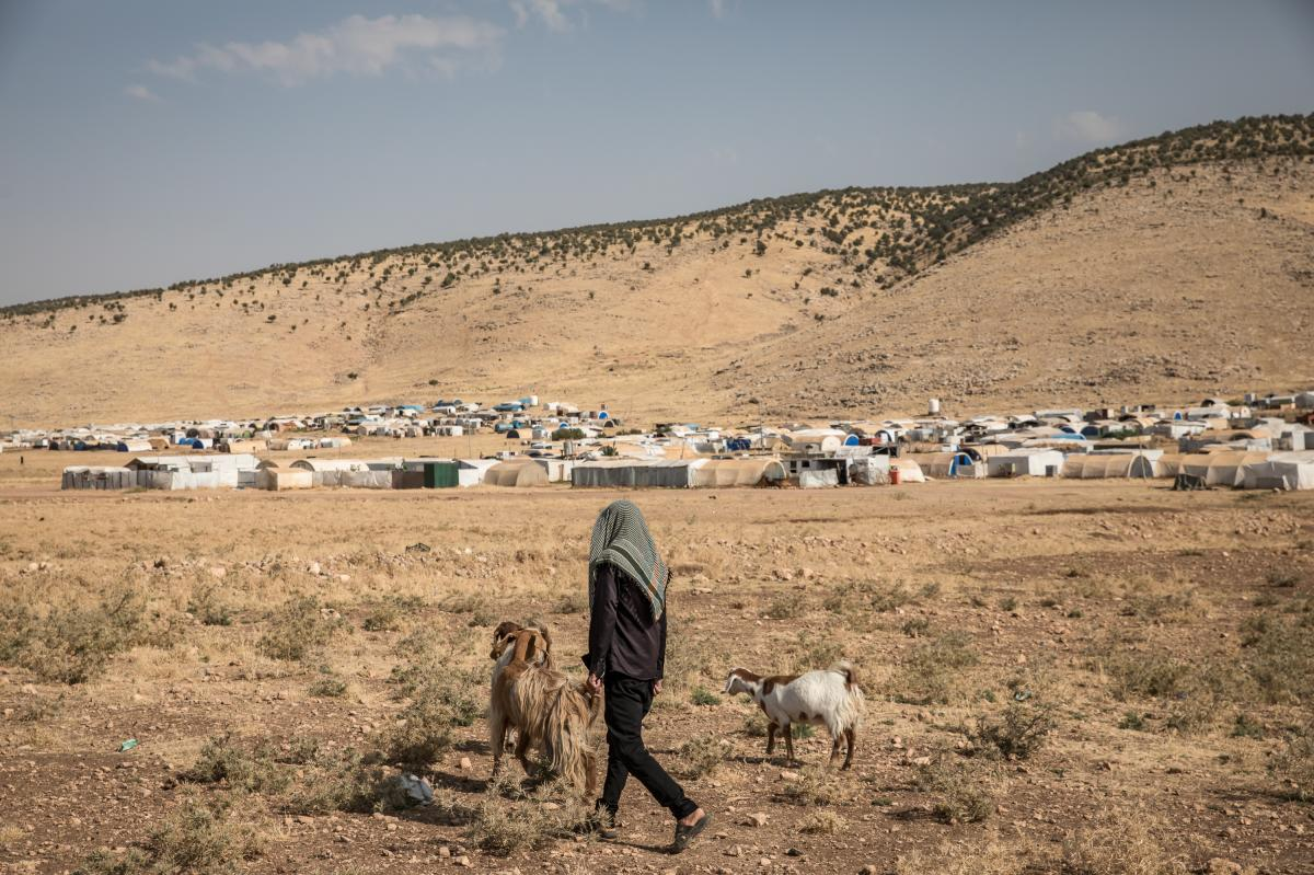 Yazidis continue to live in emergency tents near the top of Mount Sinjar six years after being displaced from their towns and villages. Some of them say they feel safer on the mountain where they fled to escape ISIS.