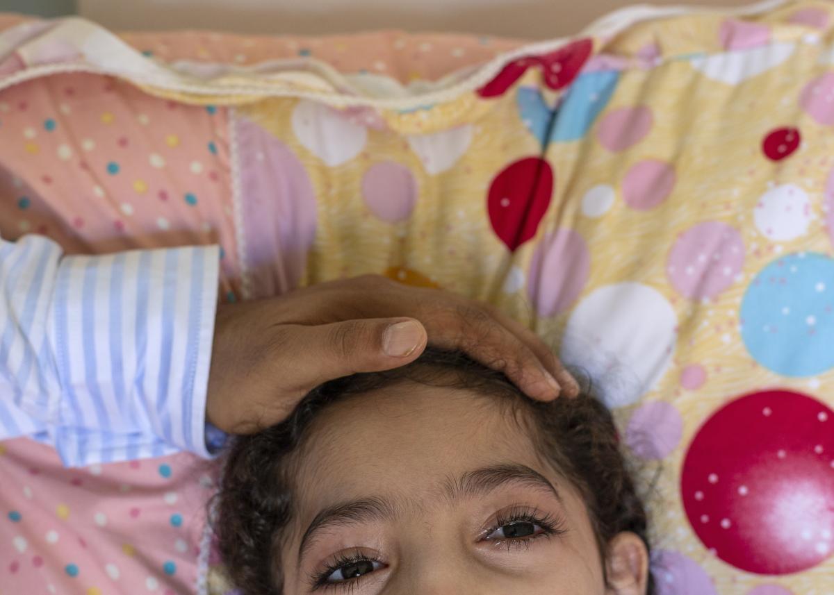Nageeb Alomari's daughter Shaema, who has cerebral palsy.