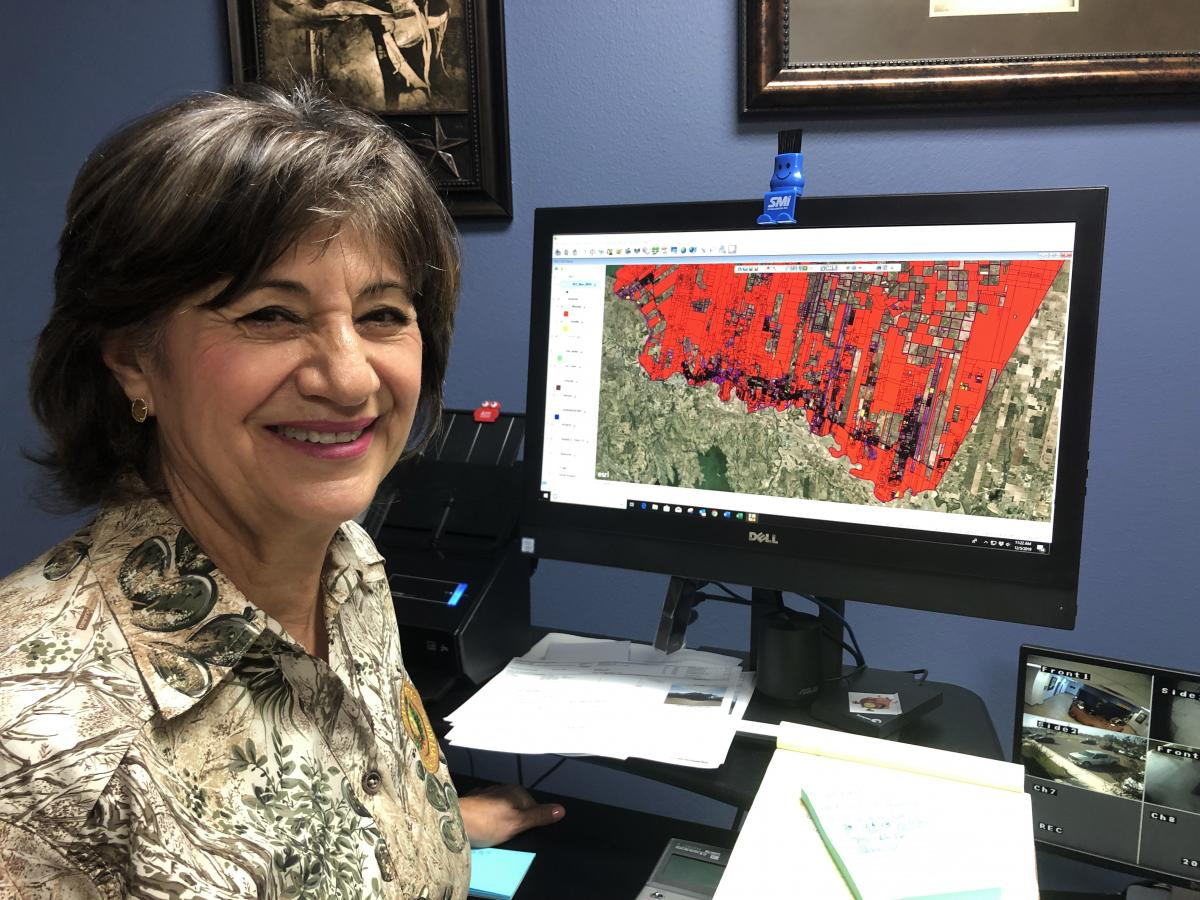 The computer screen of Starr County Chief Appraiser Rosalva Guerra is awash with red. These are properties where the county is unsure of the owner.