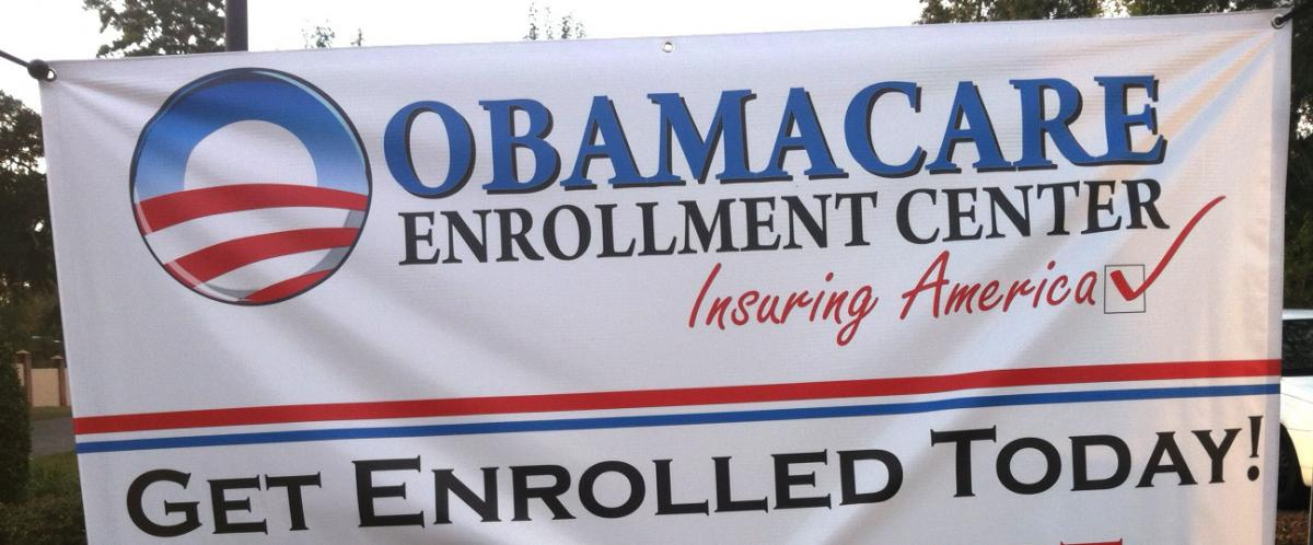 """""""Obamacare Enrollment Teams"""" give presentations on health insurance options and the Affordable Care Act, but are not actually affiliated with the government."""