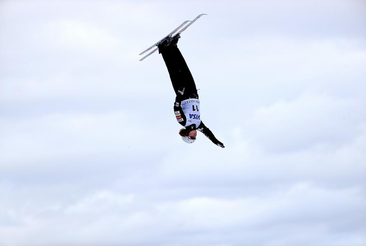 "Ashley Caldwell competes in the Ladies' Aerials qualifying during the 2018 FIS Freestyle Ski World Cup on Jan. 12 in Park City, Utah. From the time she started competing, ""I wanted to be jumping, doing as big tricks as the boys were,"" she says."