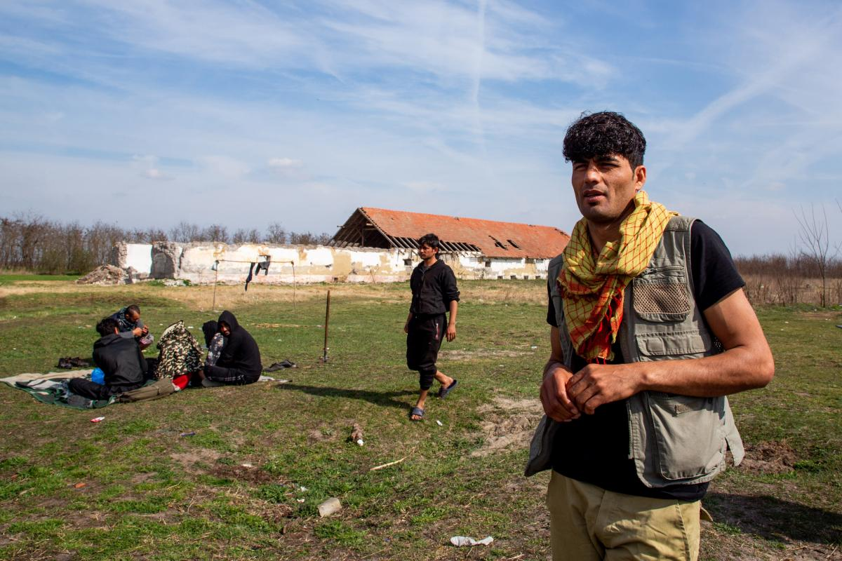 At an abandoned farm on the outskirts of the Serbian village of Horgos, Rahim Kanduzi, 28, from Afghanistan, waits to make a new attempt to cross into the EU on the Hungarian border. Its proximity to the EU border has made this ruin one of the most popula