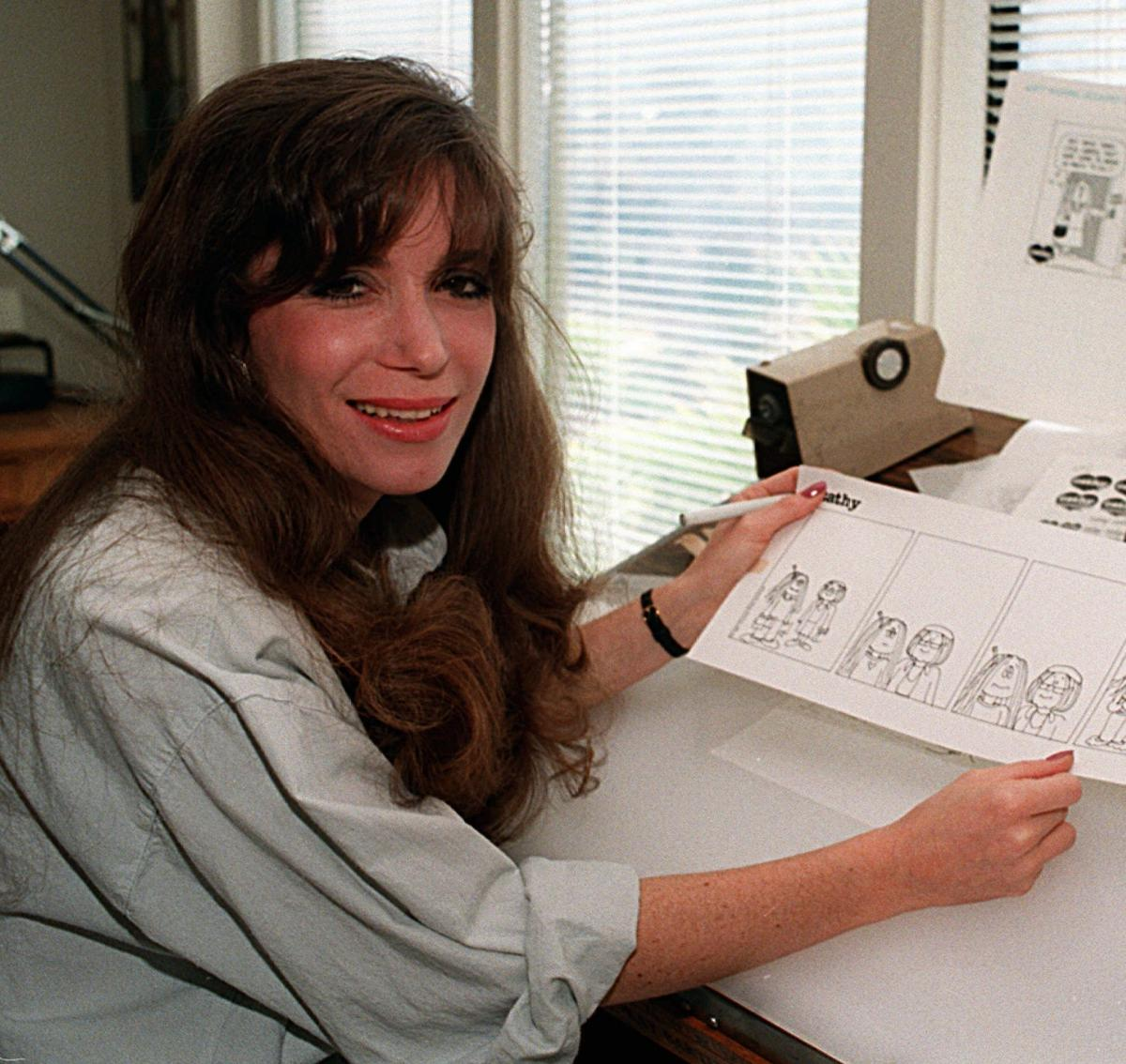 Cartoonist Cathy Guisewite in 1987.