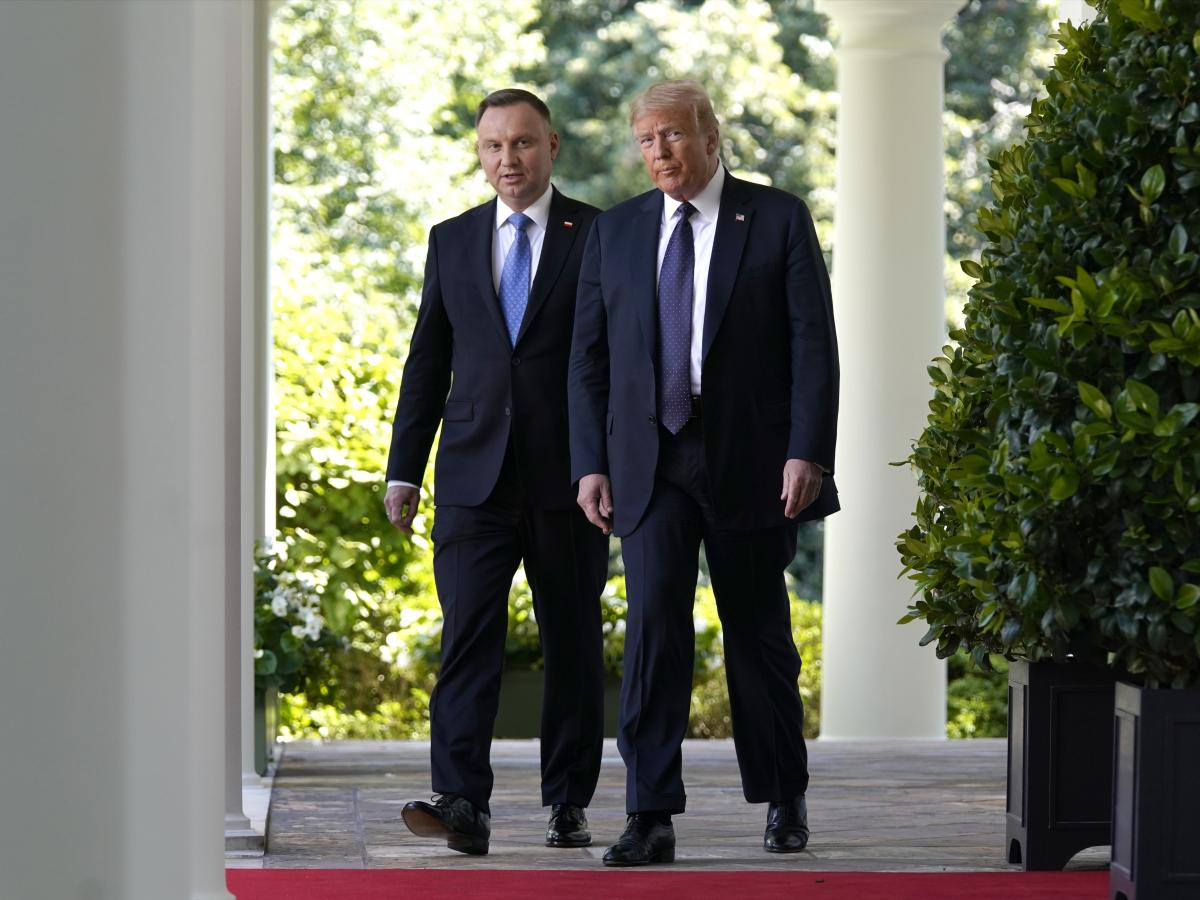 President Trump hosts Polish President Andrzej Duda at the White House in June.