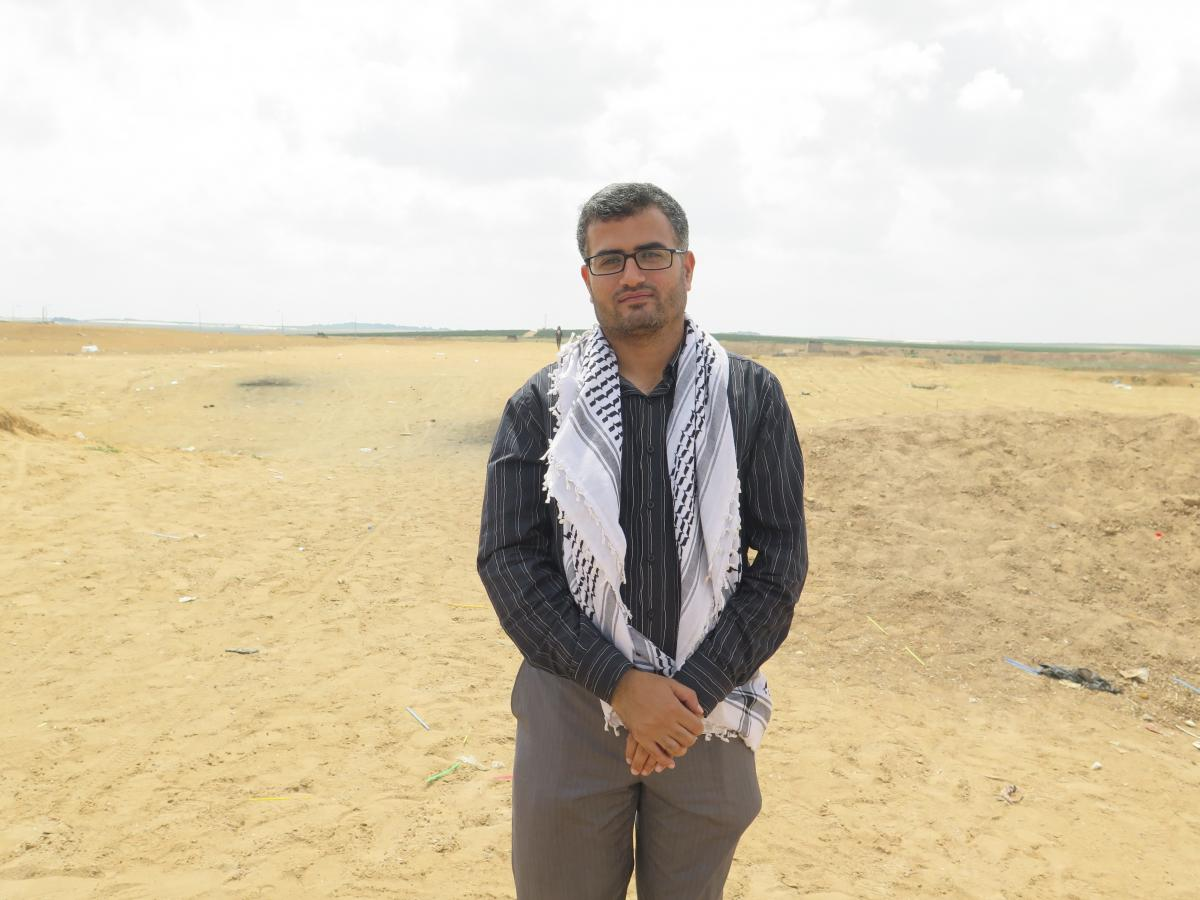 Ahmed Abu Artema is an organizer of the Palestinians' weeks-long protests at the Gaza border.