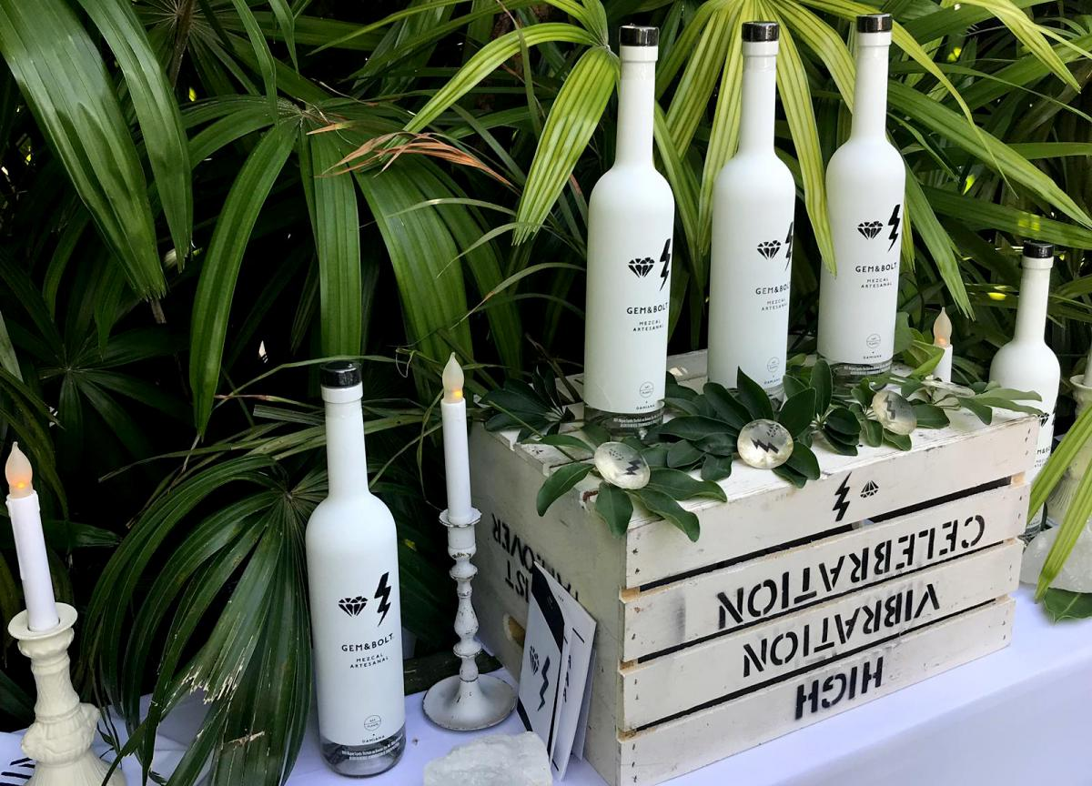 Gem & Bolt's mezcal is distilled with damiana — an herb touted for its aphrodisiac and antidepressant properties — though the company treads lightly with any alleged health claims.
