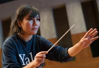 """Zarifa Adiba, one of two conductors, is 18. She always loved music, and her mother told her, """"What you love, go ahead and find out."""""""