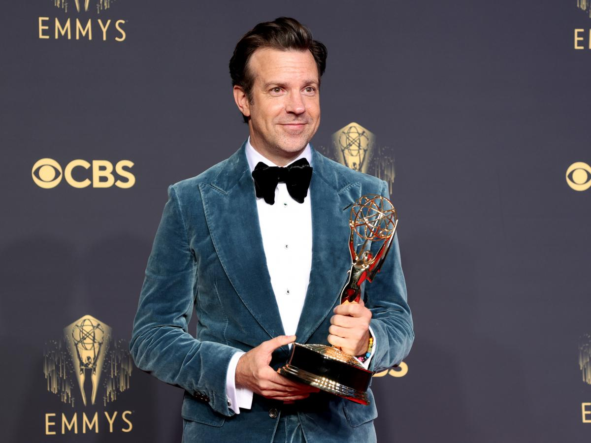 Jason Sudeikis, winner of Outstanding Lead Actor in a Comedy Series for 'Ted Lasso'