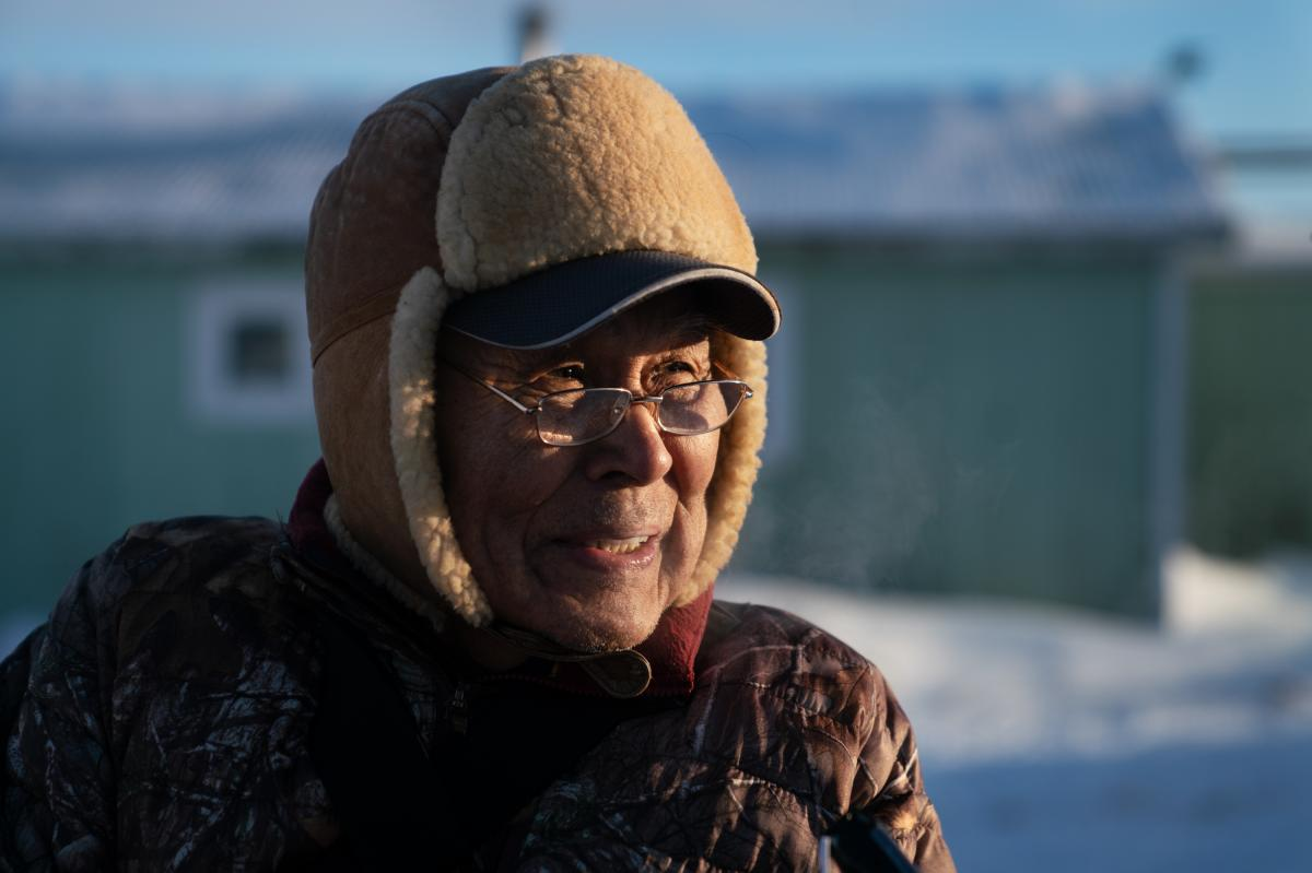 Alexie Jimmie, 76, says his family was one of the first to settle in Toksook Bay in 1964.