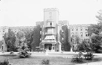 """The Center Building at St. Elizabeths, pictured circa 1900, housed administrative offices and patient wards. Established in 1855 as the Government Hospital for the Insane, the facility became widely known as """"St. Elizabeths"""" during the Civil War, and took"""