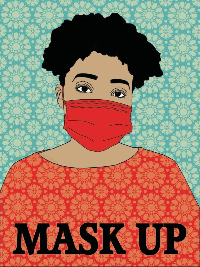 """A submission to Amplifier titled """"Mask Up."""""""