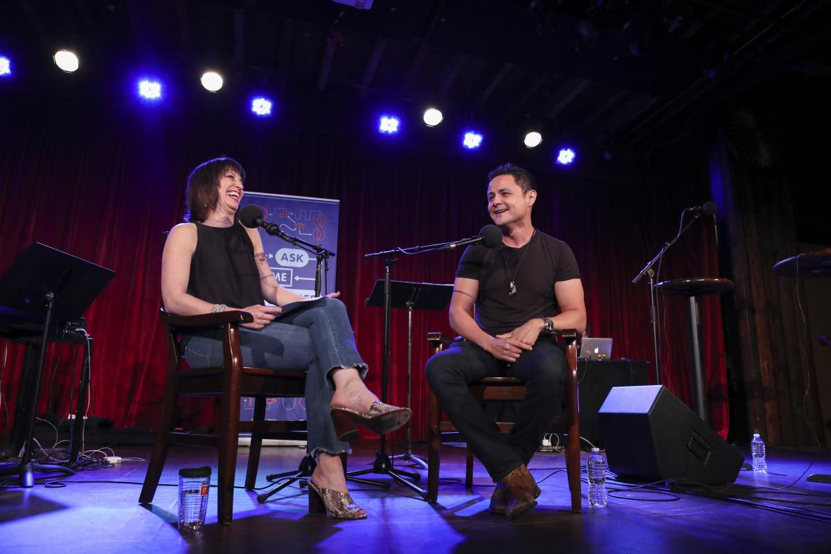 Ophira Eisenberg chats with Arturo Castro on Ask Me Another at the Bell House in Brooklyn, New York.