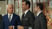 In recent years, high-profile cable TV dramas like AMC's Mad Men have helped to shift audiences and programming across all types of TV networks. (Pictured, from left: John Slattery, Jon Hamm and Vincent Kartheiser)