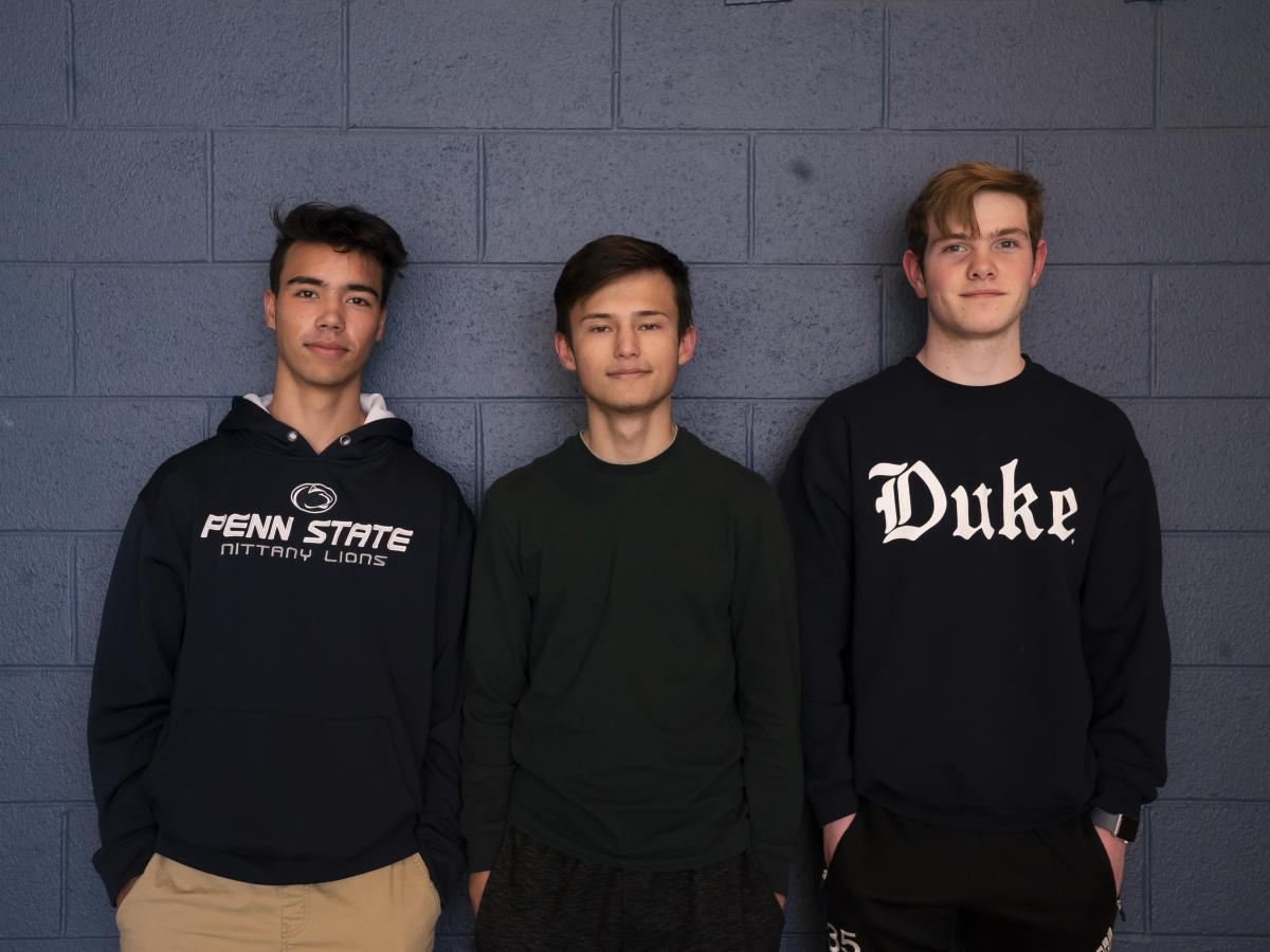 Matthew Goodwin (left), Scooter Norton and Calvin Forinash have been playing Rocket League for three years and have known one another since kindergarten.