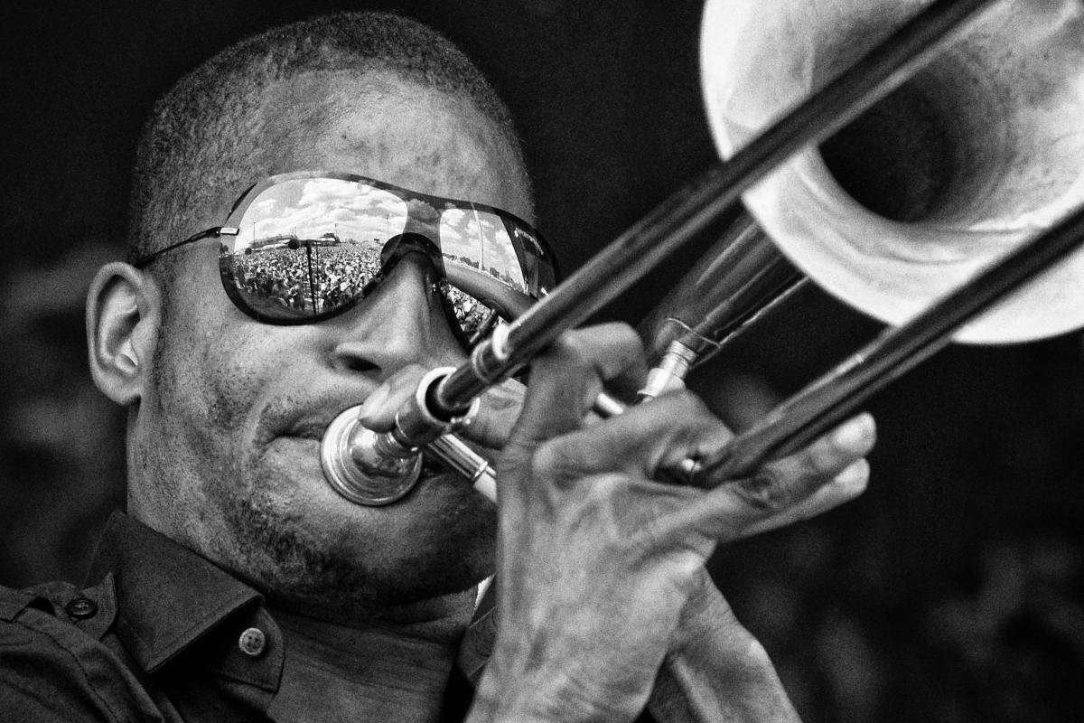 Trombone Shorty at Jazz Fest in 2011.